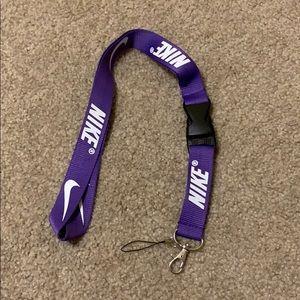 Nike Purple Lanyard